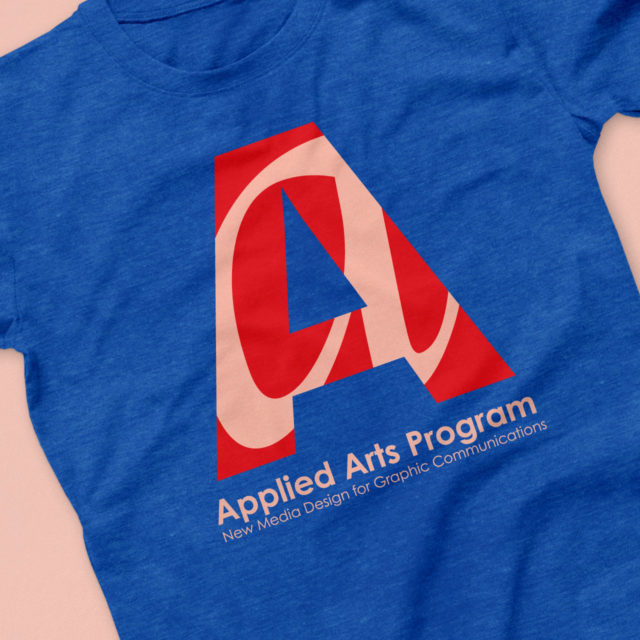 Logo t-shirt design for Applied Arts Program at QCC in Worcester, MA