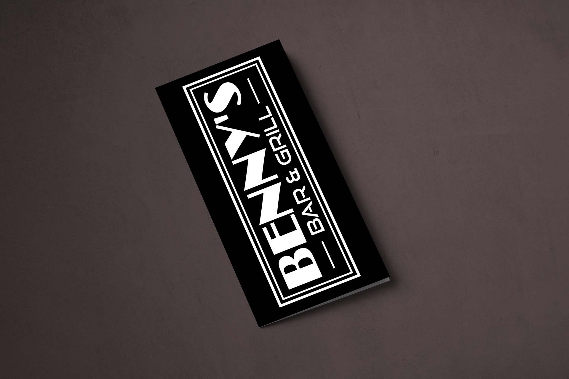 Benny's Bar & Grill Menu Cover Design