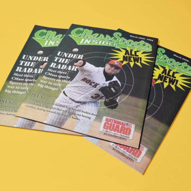 Cover designs for Central MA based sports magazine
