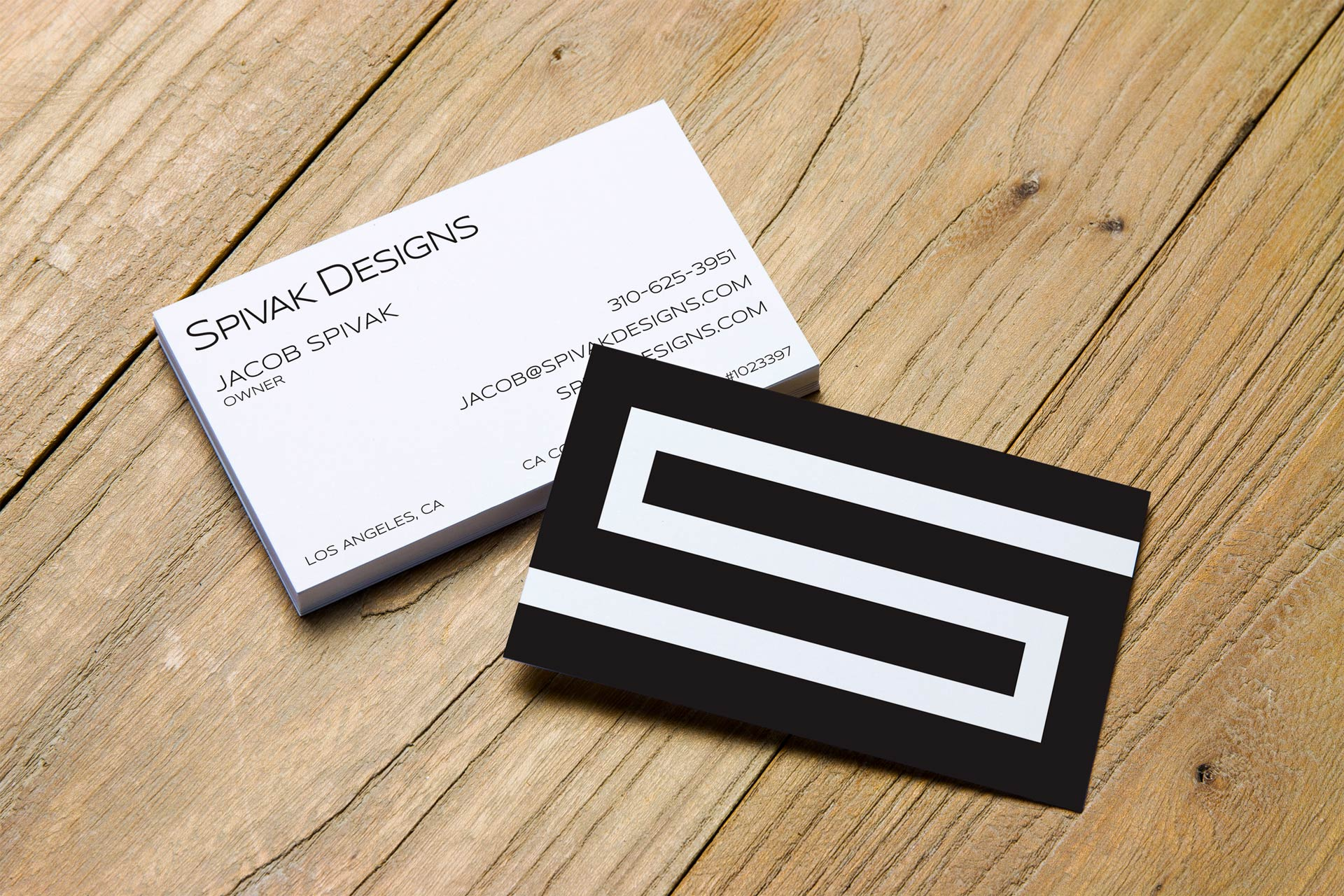 Business card design and logo for Spivak Designs