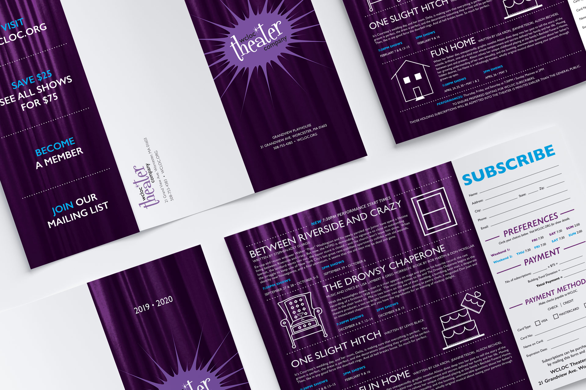 WCLOC Theater 2019-2020 Brochure Design