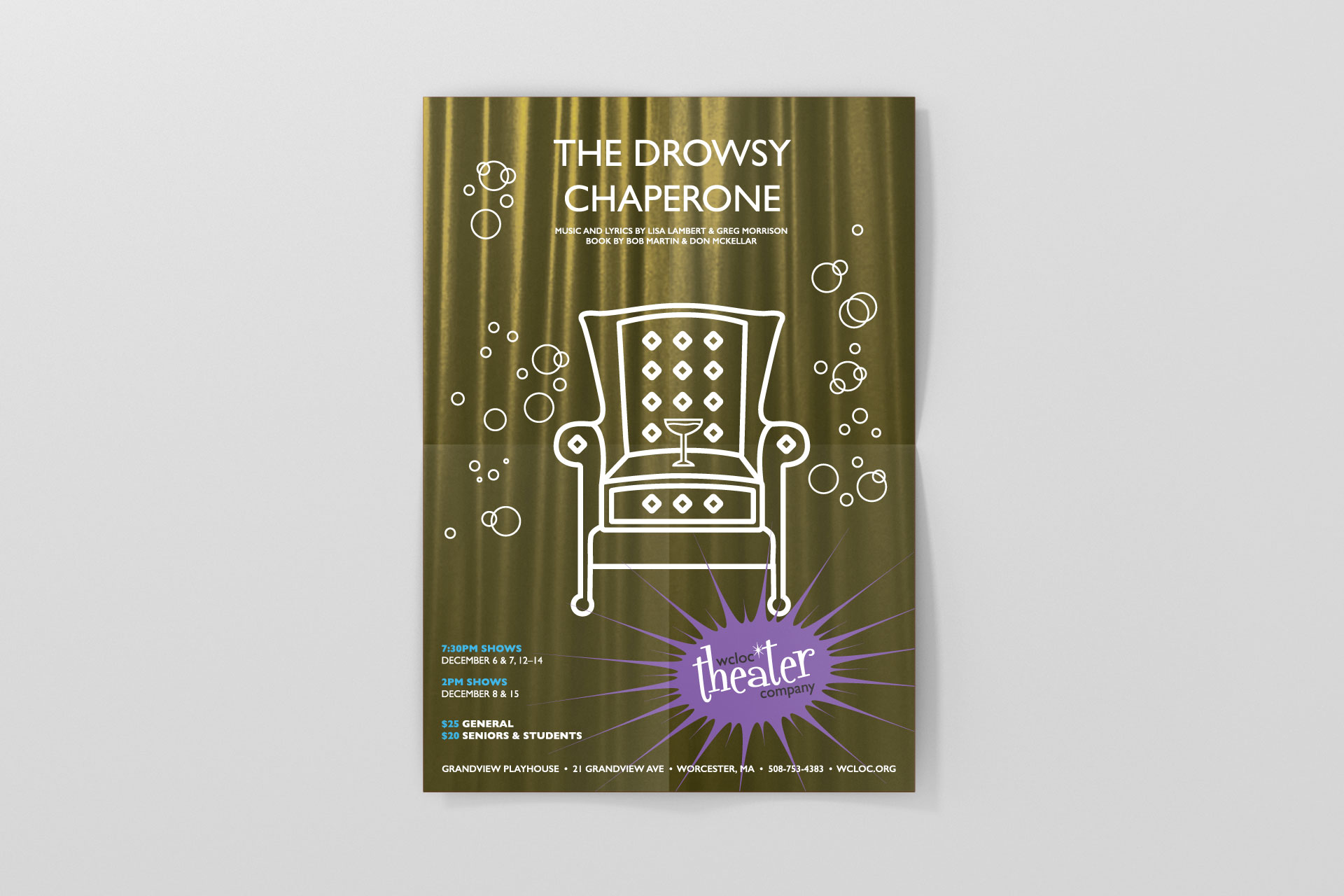 WCLOC Theaterh Poster - The Drowsy Chaperone