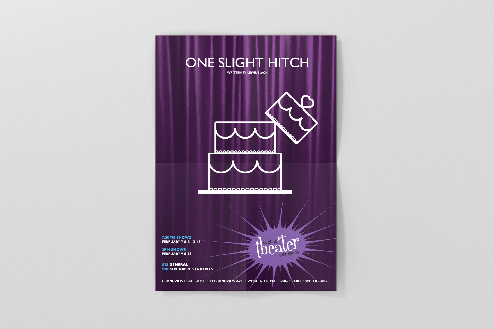 WCLOC Theaterh Poster - One Slight Hitch