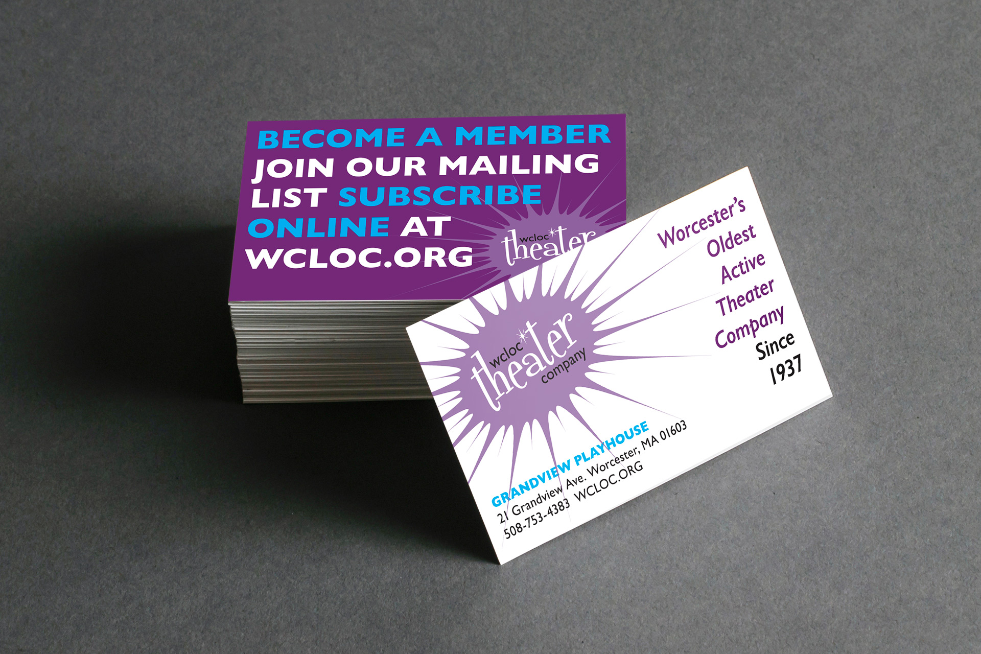 WCLOC Theater Business Card Design