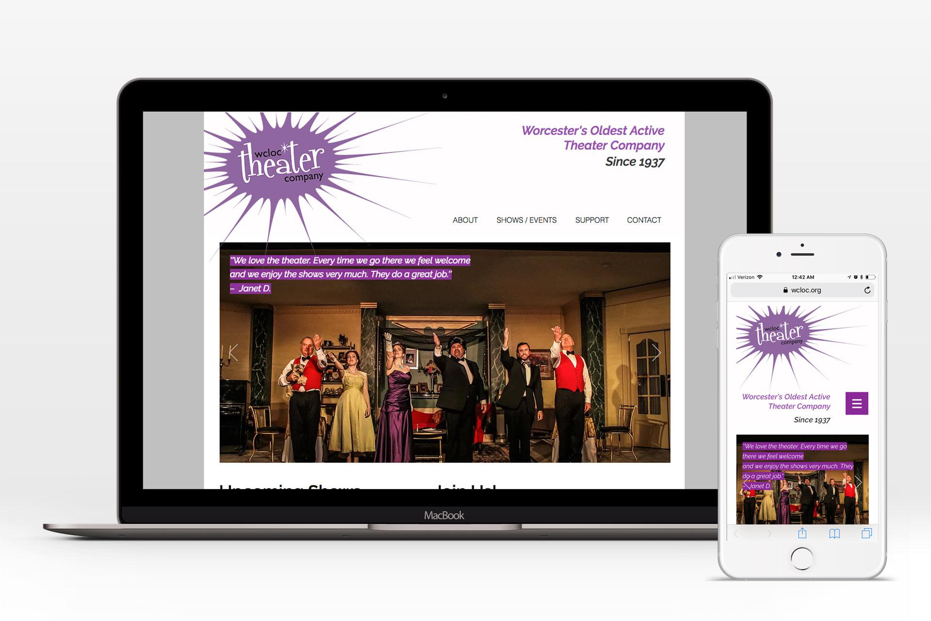 WCLOC Theater Website (Desktop/Mobile)