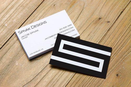 Spivak Designs Business Card Design
