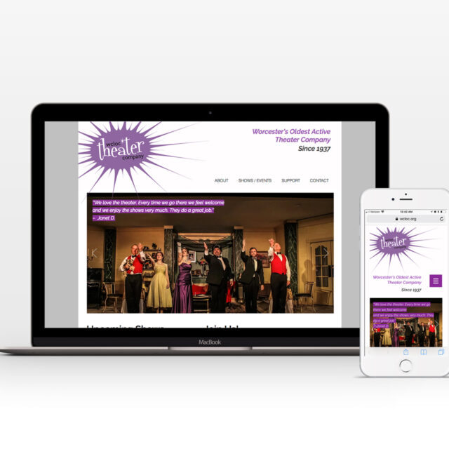 Website design and branding for Worcester's WCLOC Theater Company